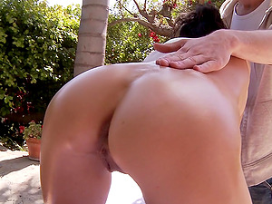 Desirous Brown-haired With A Hot Butt Getting A Hot Rubdown