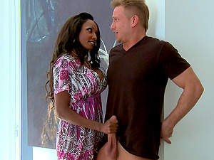 Diamond Jackson blows and gets her black coochie pounded from behind