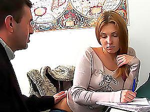 Perverted Schoolteacher Fucks an Guiltless Sweet School Lady