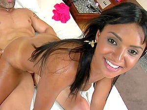 Rayssa senses blessed to get her black butt fucked from behind