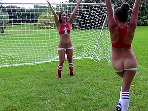 Sporty Hot Lezzies Have fun Soccer and Eat Cunt