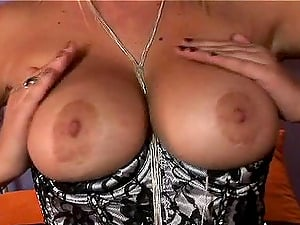 Cougar Mummy Solo Model Fondling Her Big Tits Then Masturbates