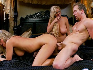 Kelly Madison And Bree Olson Gets Pounded In A Gonzo Threesome