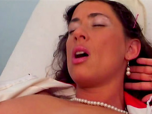 Sexy nurses have a threesome with a lucky physician