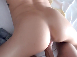 cowgirl with petite tits loves smooth-shaven beaver penetrated on point of view