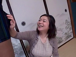 Horny Japanese Mature Lady Rails a Black Manstick Doggystyle