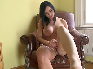 Classy Dark haired In High High-heeled shoes Gives Hot Foot worship