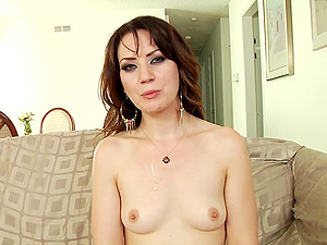 Horny stunners are interviewed butt naked in compilation clip
