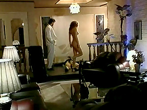 Dark haired with a hot assets luving a gonzo rear end style fuck in her living room