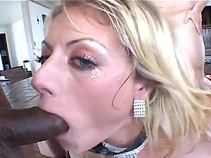 Jizm Swishing Chick Mouth Fucked In Group sex Before Taking Jism In Mouth