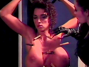 Enslaved porn industry star with her big tits getting brutal fetish while being abased in Bondage & discipline bang-out