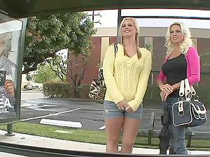 Pretty Blonde Lesbo In Cut-offs Slurping A Sweet Taut Vulva