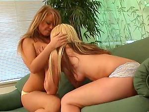 Pretty Blonde G/g With Hot Culo Slurping A Trimmed Vulva