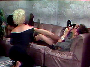 Chi Chi Larue And Jazzmyn In A Girl/girl Interracial Fuck Time On High High-heeled shoes
