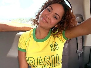 Sizzling Brazilian honey likes it big and hard