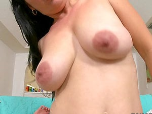 A hot dark haired gets a mouthhole of jism after a hot oral pleasure