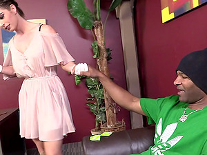 Bunny Freedom gets her mouth and beaver smashed by a black stud