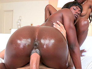 Dark-hued With Black Butt Gets Screwed In An Interracial Hook-up