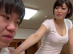 Sexy Japanese woman with a hot assets getting her hairy twat munched and fingerblasted