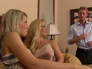 Two hot blonde Mummies have a threesome with a lucky boy