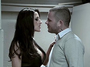 Kortney Kane bj's a gigantic man rod and gets banged gonzo in the rest room
