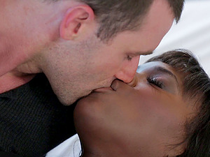 James Deen drills Ana Foxxx's amazing dark-hued coochie
