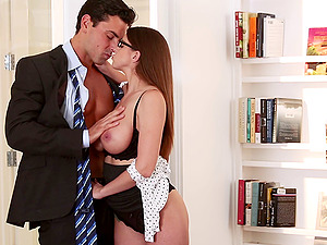 Brooklyn Chase tempts her chief and fucks him in his office