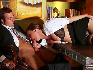 Sexy assistant Maddy O'Reilly gets fucked on a desk in reality clip