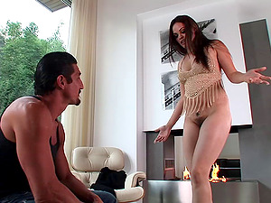 Shay Jordan is put face down on the couch and slammed hard