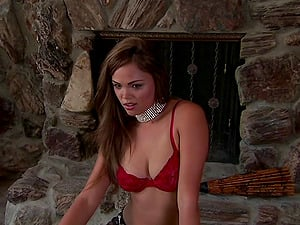 Lingerie-clad pornography starlet with a hot bod getting her humid vulva gobbled and fingerblasted