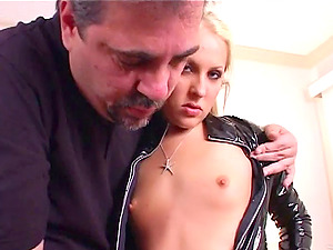 Blonde nymph gets fucked then gives a bj and takes a facial cumshot