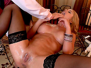 Cathy Heaven wearing stockings luvs assfuck fucky-fucky in cowgirl pose
