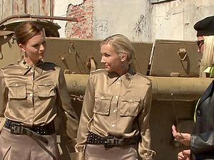Female dominance girl-on-girl activity with Tarra Milky, Sandra Sanchez