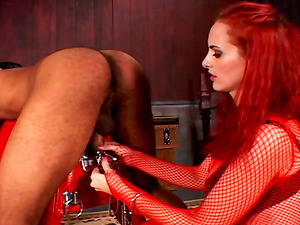 Mz. Berlin gives a nasty stud a nasty hot dick taunting and ball busting