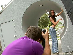 Backstage footage of sexy models displaying off their superb booties