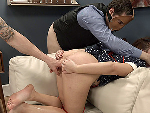 Sexy dame in restrain bondage coping up with massive dick xxx missionary in Sadism & masochism hook-up