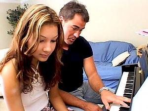 Horny Stunner Fucks Her Piano Instructor.