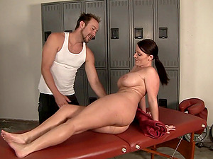 A corporal therapist fumbles her down and fucks her hard