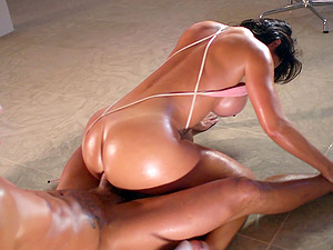 Truly flawless bod of a lithe black-haired is hot in gonzo porno