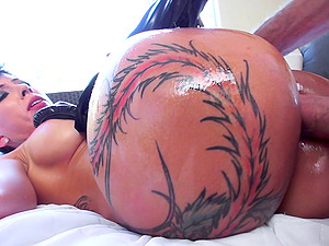 Inked up bad lady Bella Bellz has her way with this stud