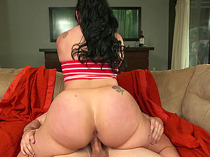Foxy and limber is the fat arse Latina he plows in the bum