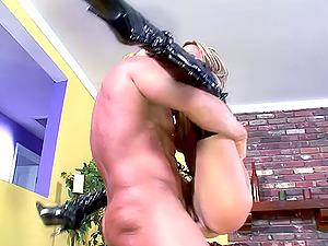 Hedonistic big tit honey hammered hard-core doggystyle