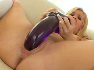Only enormous fuck sticks can pleasure this big tit solo bitch