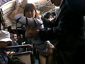 Japanese Female Gets Banged On A Crowded Bus.