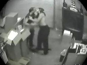 Fellatio Caught In Security Camera.