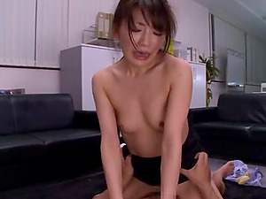 Office guys use this gorgeous Japanese chick as a fuck fucktoy