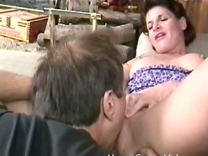 An fellow lays the pipe to an older chick then cums on her face