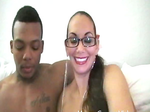 An interracial inexperienced duo shoots a home movie and love it