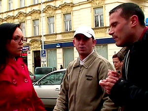 Euro reality pornography with two ladies picked up on the street