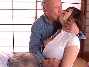 Old studs get hard to group sex a thick breasts Japanese whore